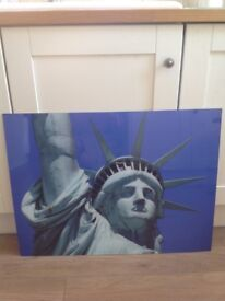 Large Statute of Liberty acrylic picture