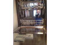 Indesit dishwasher in black