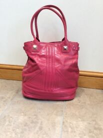 French connection large pink handbag