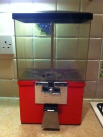 Vintage Italian Coin Operated Gumball Dispensing Machine