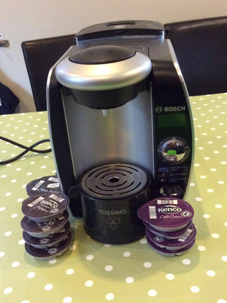 Bosch Tassimo Coffee Machine with water filter