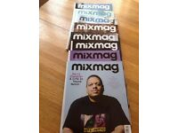 Approximately 100 mixmag magazines