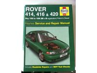 Haynes Manual For Rover 414, 416 & 420