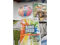 3 Wii games Band Hero, Just Dance & Madagascar escape 2 Africa
