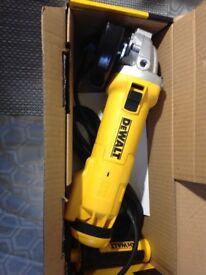 Dewalt angle grinder, 240 volt, brand new never used, £65 in the shop