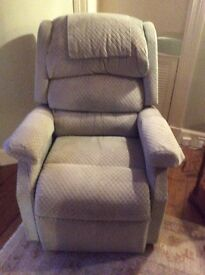Large chair, electrically operated from fully upright to fully reclined. Good condition.