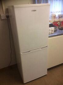 Upright white Fridgemaster Frostfree Fridge Freezer 50/50 style