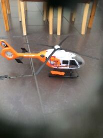 Rescue helicopter with lights and sounds