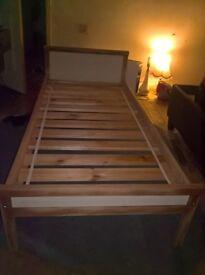 ikea pine toddler bed
