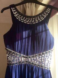 Gorgeous midnight blue dress size 10 - 12