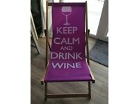 Deck chair - KEEP CALM AND DRINK WINE!
