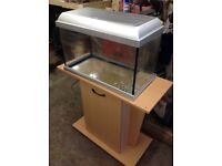 2ft fish tank with lid and stand