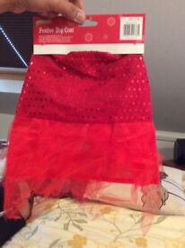 Festive dog coat size MEDIUM