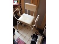 High chair with arms