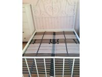 Ikea Leirvik Double Bed Frame and Ikea Lonset Slatted Bed Base