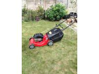 Petrol lawnmower, self propelled mower with a Briggs and Stratton engine. Just been serviced