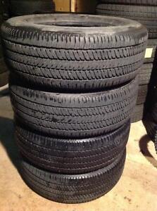 4 pneus 265/65 r17 d'été bridgestone dueler h/t.  220$