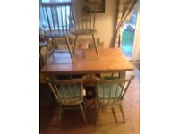 Self made table and self painted chairs