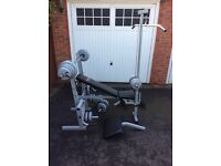 Multi Purpose Weight Bench with Weights