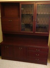Mahogany look dining unit