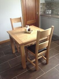 Halo Plum Square Dining Table with 2 Matching Chairs