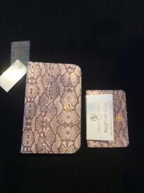 Brand new travel set. Adrienne Vittadini passport case and jewellery holder. NEVER USED.
