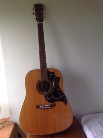 BM Mammoth steel strung acoustic student guitar. About 40 yrs old.