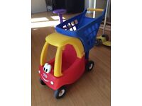 Little Tikes Cosy Coupe shopping trolley