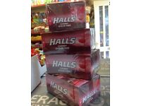 Halls (cherry sugar free) joblot