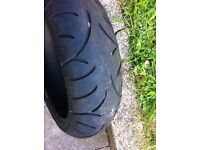 rear bike tyre 190/55/17zr battlax bt021 6mm