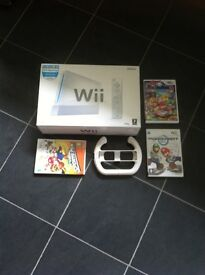 Wii Console and games in as new condition