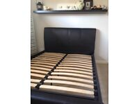 Benson leather double bed