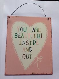 NEW ~ Selection of Metal Hanging Signs/Plaque