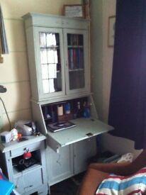 Child's desk and bookshelf