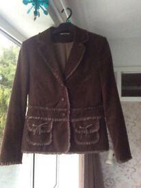 Ladies brown short jacket size 12