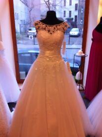 WHITE WEDDING DRESS £450