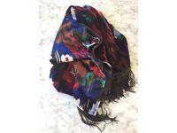 Armani ladies silk / velvet scarf