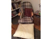 Rocking /nursing chair and footstool