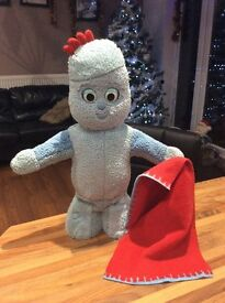 IN THE NIGHT GARDEN 'BLANKET TIME IGGLEPIGGLE'. MOVES HEAD, ARMS BODY,SAYS PHRASES,PLAYS THEME TUNE