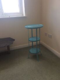 FREE Beautiful blue metal side table x2