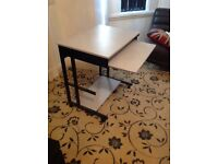 Compact room saving Computer desk with pull out shelf. Very good condition