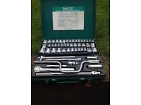Kamasa 52 piece socket set in excellent condition,although case has a few scratches
