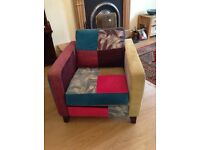 Beautiful Peggy Patchwork armchair and matching green 3 seater sofa
