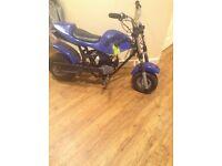 Mini midi moto motorbike kids pit dirt bike 49cc 2stroke rev and go ( runs and rides £60 Ono )