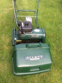Lawn mower Kensington, Allett make, cuts lawn to cricket pitch standards.