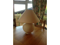 Large Ceramic Table Lamp With Shade