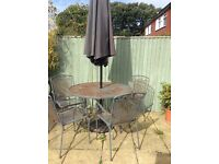 Metal garden table and chairs FREE TO COLLECTOR
