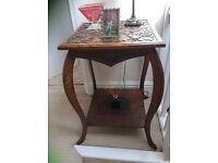 Ornate Carved Oak Table