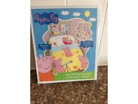 Peppy pig duvet cover and pillow case