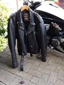 Brando style leather jacket size 42